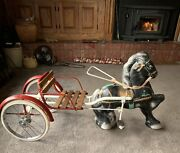 1940's Mobo Horse And Buggy Pedal Car