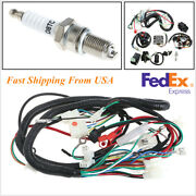 Motorcycle 125-250cc Quad Electric Spark Plug Switch Razor Cdi Coil Wire Harness