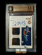 Dk Metcalf 2019 Panini Encased Dual Swatch On Card Auto 24/50 Rc Bgs 9.5 /10