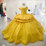Stunning Yellow Sweet 16 Quinceanera Dresses Girl Party Dress Mexican Prom Gowns