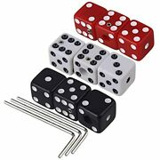 Multicolor Plastic Dice Guitar Tone Volume Control Knobs With Wrench Electric Of
