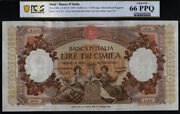Tt Pk 89c 1959 Italy 10000 Lire Pcgs 66 Epq Only Gem Uncirculated And Finest Known