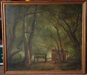 Oil Painting By California Artist Claude Buck Scotts Valley California