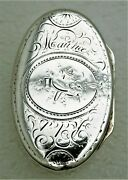 Swiss Sterling Silver Oval Box With Gold Wash Interior Mark Geneva C1770 Maurice