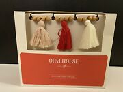 Target Opalhouse Valentine's Day Wood Bead And Tassel Garland 5ft Red White Pink