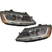 Set Of 2 Headlights Lamps Left-and-right For Vw 5c7941006j 5c7941005j Pair