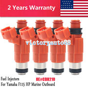Set Of 4 Fuel Injectors For Yamaha Outboard 115 Hp Marine Engine Cdh210 2000 Up