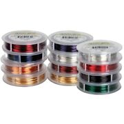 Artistic Wire Permanently Colored Copper Wire 15-yard Spools 22-gauge Set