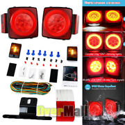 12v Led Submersible Light Beads Ip67 Tail Lamp Kit For Cars Towing Trailer Rv