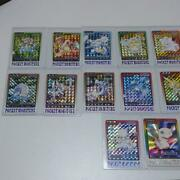 Pokemon Carddass Bandai Card Complete File All Types 151 + 2 Sheets 1997