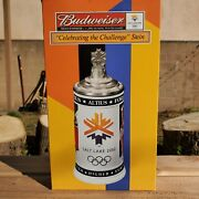 Budweiser 2002 Olympic Winter Games Beer Stein Rare Collectable Salt Lake