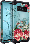 Samsung Galaxy S10 Plus Floral Case Heavy Duty Shockproof Full Body Phone Cover