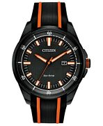 Citizen Drive From Eco-drive Men's Black Silicone Strap Watch 45mm Watches