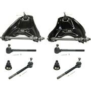 Control Arms Set Of 8 Front Left-and-right Upper For Chevy With Ball Joints