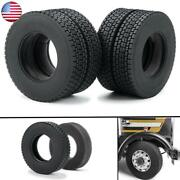 1/2/4x Tire Tyre 83.5mm Od With Foam For Rc 1/14 Wheel Rims Tamiya Tractor Truck