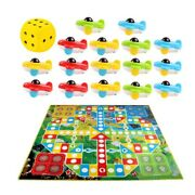 1 Set Of Flying Chess Carpet Baby Game Pad Aeroplane Chess Rug For Room Baby