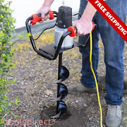 Post Fence Hole Digger Drilling Digging Auger Drill Bit Machine Yard Earth 6 In