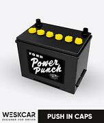 Ford Power Punch Battery 1954-68 Push In Caps Kit