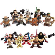 Lot 21pcs Star Wars Galactic Heroes Ewok Episode 3 4 Sith Jedi Action Figure Toy