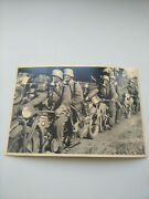 Old Postcards Photo Ww2 German Soldiers Motorcycle Ostfront 1941