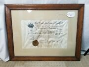 Theodore Roosevelt Signed Us Naval Military Appointment Charles Andrews 1900