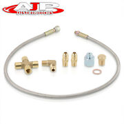 36 Jdm Turbo Charger Braided Oil Feed Inlet Line Kit For T3/t4/t60/t61/t70/t04e