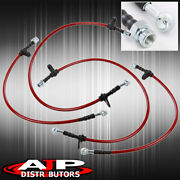 Red 4pc F+r Stainless Steel Racing Brake Line Kit For 1988-1991 Honda Prelude