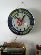 Lackner 1950and039s 18 X 18 X 4 Lowe Brothers Paints-varnishes Clock
