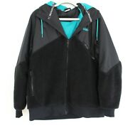Nike 6.0 Black And Teal Sherpa Hoodie Winter Jacket - Menand039s Size Xl