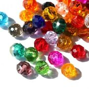 Round Glass Bead Crystal Spacer Beads Bracelets Findings Jewelry Making 300pcs