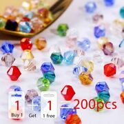 Shiny Crystal Glass Bead Loose Spacer Beads Bracelet Finding Diy Jewelry 200pcs