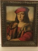 Vintage Oil Painting On Sanded Canvas 14.5andrdquox17.5andrdquo Signed