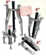 4 Pc Mechanic Gear Puller 3 Jaw Set 3 4 6 8 Gear Pulley Bearing Puller Auto