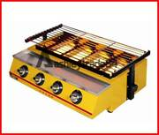 Commercial Et-k222 4 Head Gas-fired Grill Smokeless Barbecue Machine