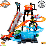 Hot Wheels Ultimate Gator Car Wash Play Set Toy With Color Shifters Perfect Gift