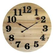 Better Homes And Gardens Wood Planks Style Numbered Clock Natural Stain Finish