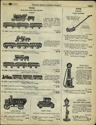 1929 Paper Ad Hubley Cast Iron Toy Pull Train Sets Coal Truck Ford Arcade Ford +