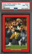 2005 Topps Turkey Red Aaron Rodgers Red Border Parallel Rc Rookie Card 221 Sp