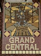 Rochelle Weber Subway Tile Art Steam Locomotive Grand Central Acrylic And Resin
