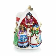 Jay Strongwater Eight Maids A-milking Glass Ornament Sdh20005-250 Brand Nib F/s