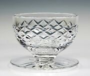 Waterford Maeve Cut Crystal Footed Dessert Bowl 3 1/8 Tall