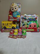 Cocomelon Jj Doll, Doctor Checkup Case And School Bus And 4 Cars Bundle All New