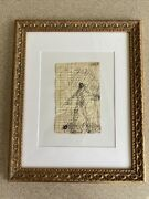 Purvis Young Signed Lone Figure With Halo Ink Mixed Media Original Art