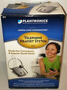 Plantronics S12 Corded Telephone Headset System Hands Free New In Opened Box