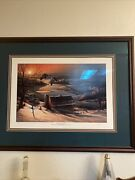 """Rare """"delayed Departure"""" Wisconsin Ducks Unlimited 1985 Print If The Year."""
