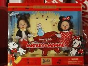 2002 Barbie Disney Mickey And Minnie Mouse Kelly And Tommy Gift Set