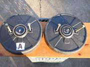 Pair Of Craftsman Garden Tractor Wheel Weights W/ Bolts 30bs Ea,60lbs Total