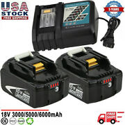 Battery Or Charger For 18v Makita 6.0ah Lithium Ion Lxt Bl1860 Bl1830 Bl1850 Us