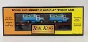 Mth Rail King O 027 5618 Wisconsin Central Flat Car And 1934 Dairy Trucks Set