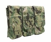 New Eagle Industries Aor2 Triple 3x2 5.56 Magazine Mag Pouch Soflcs - Molle
